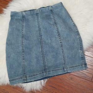 Free People Jean Skirt